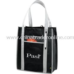 Contrast Carry-All Non Woven Bag