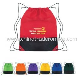 Non Woven Two Tone Promotional Cinch Pack
