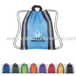 Reflective Promotional Cinch Pack - 13.5 in x 16 in