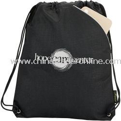 Tempo 100% Recycled PET Promotional Cinch Bag
