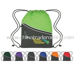 Two-Tone Promotional Cinch Bag