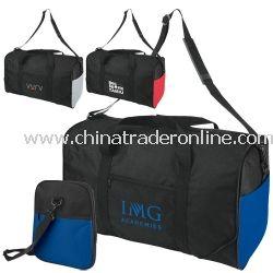 2-Tone Expanding Promotional Duffel Bag