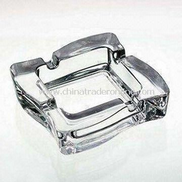 Ashtray, Made of Glass, with Size of 11.5 x 11.5 x 3.4cm from China