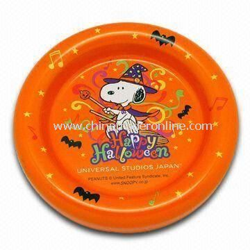 Ashtray, Made of Zinc Alloy, with Colorful Painted Logo, Customized Designs are Welcome