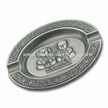 Ashtray, Made of Zinc Alloy/Pewter Material, Customized Designs Welcomed
