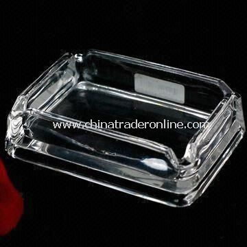 Ashtray for Home and Hotel Use, Suitable for Promotional Purposes, Made of Crystal Glass