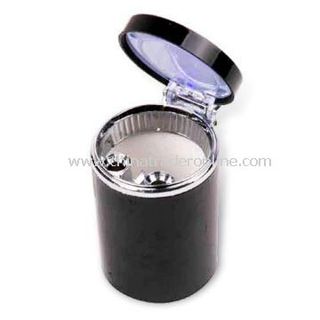 Auto-ashtray with Built-in LED Light and Operated-by 2 x CR1616 Batteries from China