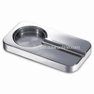 Cigar Ashtray, Made of Stainless Steel, Measures 17.5 x 9.2 x 1.6cm