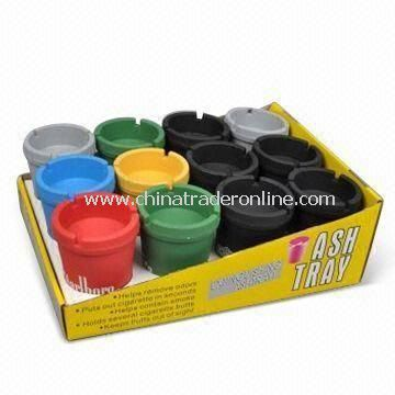 Plastic Ashtrays, Measures 11 x 8cm