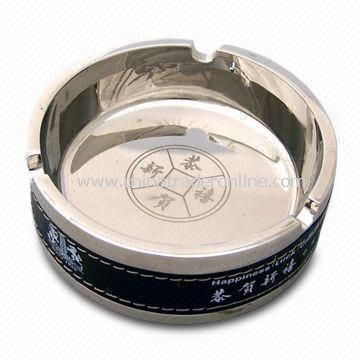 Round Ashtray with Delicate Logo in Different Colors