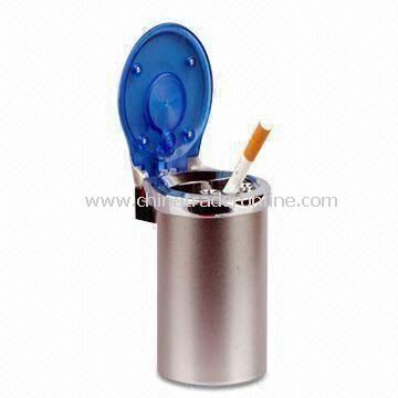75 x 85 x 110mm Car Ashtray, Made of ABS, PC and Iron Can, Weighs 119g