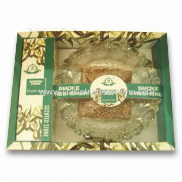 Aroma Gift Set, Comes with Ashtray and 3 Bags Scented Vermiculite