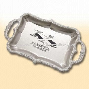 Ashtray with Embossed Design and Nickel Plating