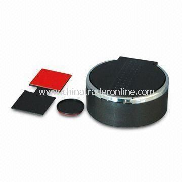 Ashtray with Leather Pattern and CR2032 Battery