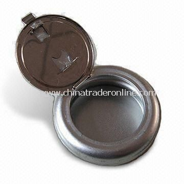 Ashtray with No Printing, Made of 0.23mm Tinplate, Customized Designs are Welcome