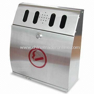 Ashtrays, Slim Shape Gives a Friendly Look When Mounted on Wall or Pole