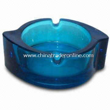 Blue Ashtray with a Windmill Shape Design, Weighing 230g