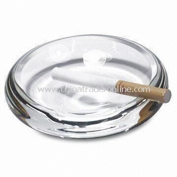 Crystal Ashtray with Logo Printing, Customized Designs are Welcome