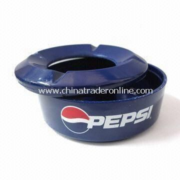 Melamine Ashtray, with Customized Logo Printing, Different Colors/Shape are Available