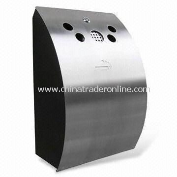 Outdoor Ashtray Bin in Popular Design, Made of Cold-rolled Steel Plate Body