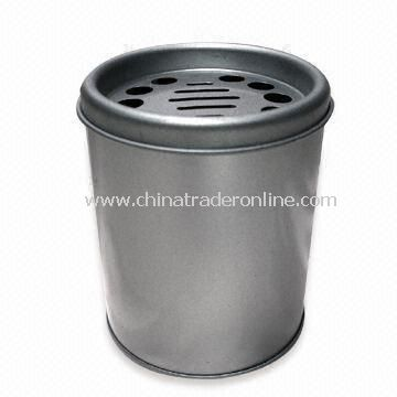 Round-shaped Ashtray, Made of Tinplate Material, Measures 84 x 110mm from China