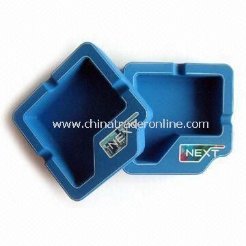 Silicone Ashtray, Customized Logo Printings are Welcome