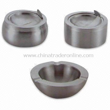 Stainless Steel Ashtray, Available in Different Designs