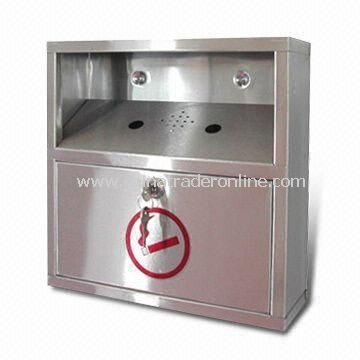 Stainless Steel Cigarette Bin, Keeps Areas Clean of Butts and Ash, OEM and ODM Orders are Welcome