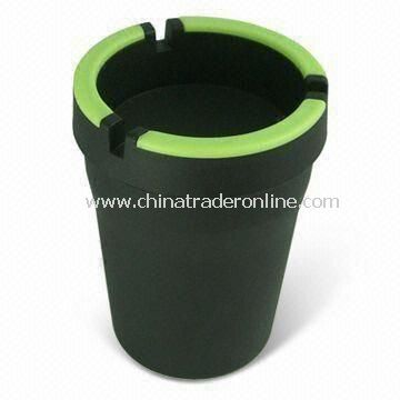 Windproof Ashtray, with Illumination Bar on Top, Easy to Find Ashtray in Dark Night