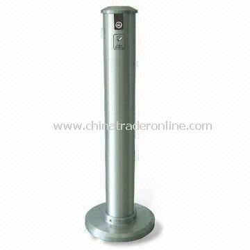 Ashtray Bin, Customized Designs and Specifications are Accepted, Made of Aluminum Alloy