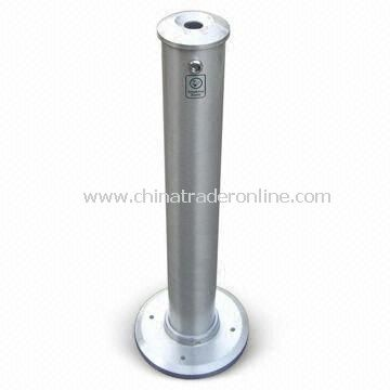 Ashtray Bin, Made of Aluminum Alloy, Customized Designs and Specifications are Accepted