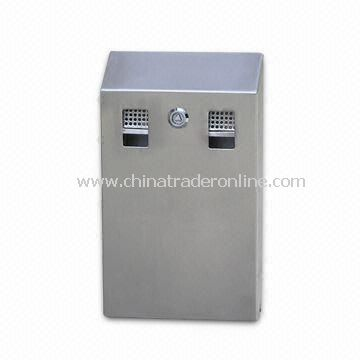 Cigarette Bin, Made of 304 Stainless Steel, Measuring 220 x 65 x 356mm