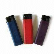 Cigarette Lighter, Made of Plastic, Customized Designs and Colors are Accepted