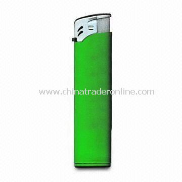 Cigarette Lighter in Electric Type, Made of Plastic, Customized Designs and Colors are Welcome