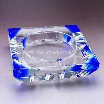 Crystal Ashtray, with Beautiful, Upscale, Fashion Appearance, Used as Birthday Gift