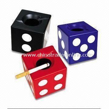 Dice Smokeless Ashtrays, Made of ABS and Melamine, Various Colors are Available