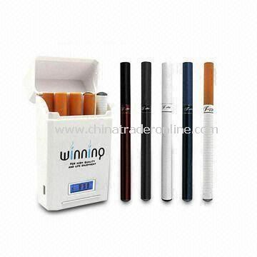 E-cigarette Set with True Smoke Flavor, LED Indicators, and 4 to 5 Hours Charging Time