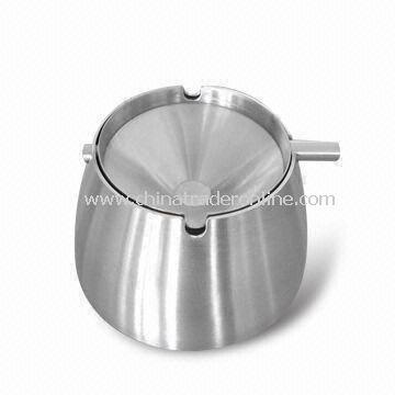 Multfunctional Stainless Steel Ashtray, Measuring 10.5 x 10.5 x 6.5cm