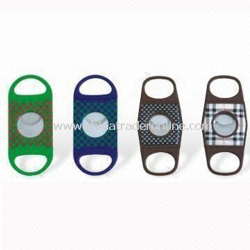 Plastic Cigar Cutters, Available in Various Designs, Measures 90 x 38mm