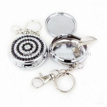 Pocket Ashtray with Spray Paint or Electroplated Finish, Customized Designs and Logos are Accepted