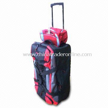 Promotional Traveling/Rolling Duffel Bag with Trolley System, Measures 40 x 60 x 23cm