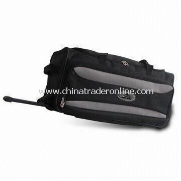 Rolling Duffel Bag, Available in Size of 70 x 32 x 33cm, Made of 420D Crinkle Nylon