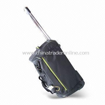 Rolling Duffel/Trolley Bag with PVC Trim, Measures 76 x 36 x 33cm