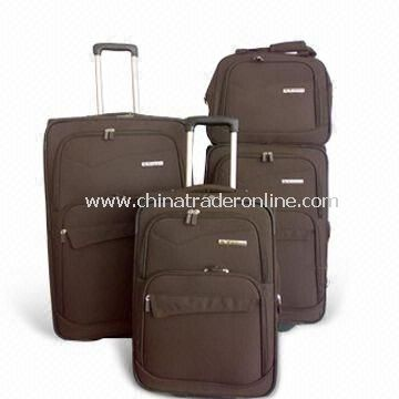 Rolling Duffel/Trolley Bags, Made of 1680D Coffee Poly + 210D Lining, Various Sizes are Available