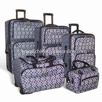 Rolling Duffel/Trolley Bags, Made of Jacquard Fabric, Various Sizes are Available