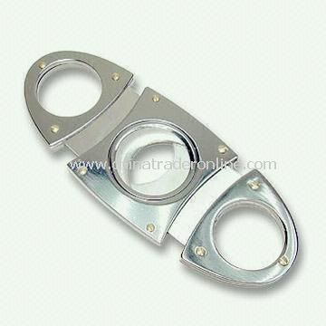 Stainless Steel Cigar Cutter with Glossy Finish
