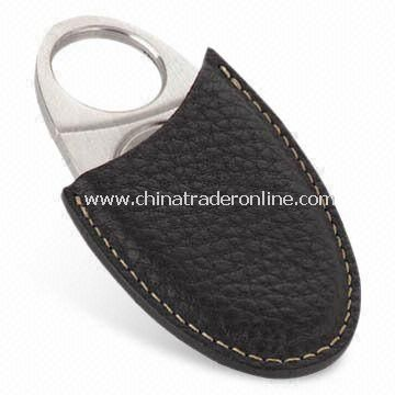Stainless Steel Cigar Cutter with Pouch