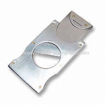 Stainless Steel Slide-cutting Cigar Cutter, Thin and Small with only Size Closed of 5.8cm