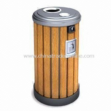 Trash Bin with Ashtray, Higher Corrosion Resistance and Long Service Time, Suitable for Outdoor Use