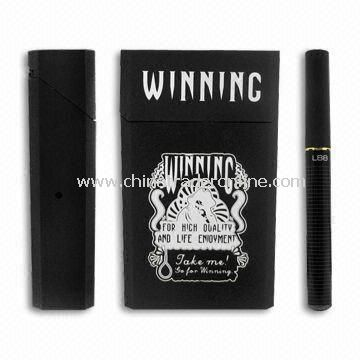 E-cigarette with Case, Includes Atomizer, 2pcs Batteries, Charger, and 5pcs Cartridges from China